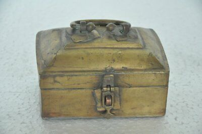 Old Brass Handcrafted Unique Shape 5 Compartment Solid Betel Nut Box