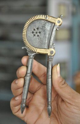 Old Iron & Brass Unique Shape Handcrafted Fine Quality Betel Nut Cutter