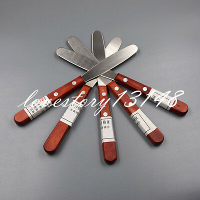 5X Dental Alginate & Metal Mixing Plaster Spatula With Wooden Handle 20 cm Sale