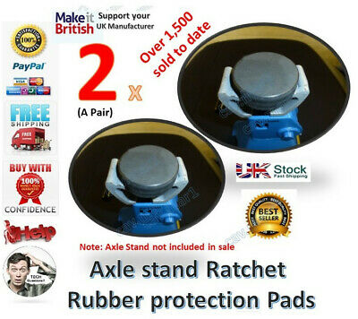 For the Silverline Axle stand 3 tonne Ratchet Rubber Protection PAD x 2 classic