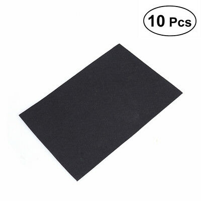 10 Sheets Blank Kraft Paper Self-adhesive Felt Sheets Multi-use for Art Craft AU