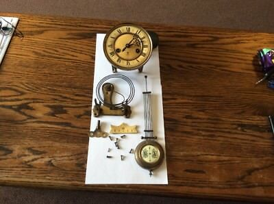Complete Gustav Becker Clock Movement. Key Pendulam Etc