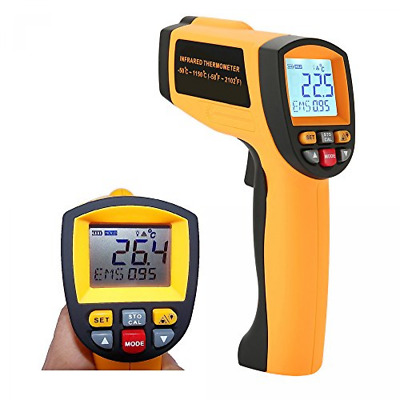 Laser Infrared Thermometer, LCD Non Contact Professional High Temperature Gun P