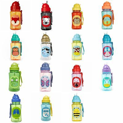 Skip Hop Zoo Straw Bottles - Toddler Childs Drinks Bottle - FREE P&P