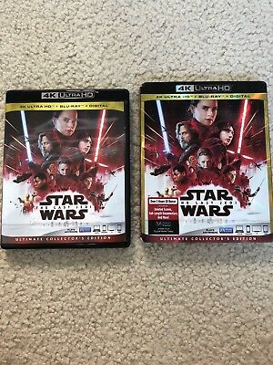 Star Wars: The Last Jedi (4K Ultra HD disk only); ships with case and slip cover