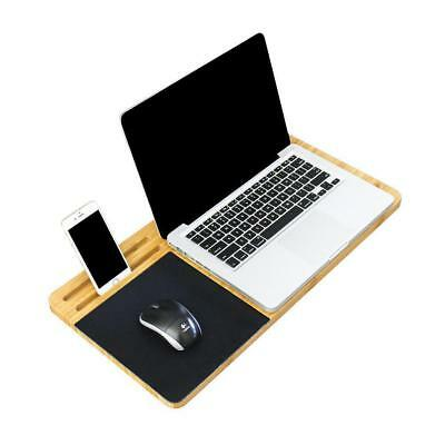 Laptop Lap Desk Table Tray Bamboo Wooden Ergonomic Holder Lapdesk Bed Portable