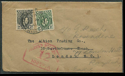 Nigeria WW2 1941 censor cover