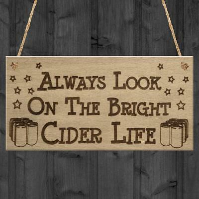 Red Ocean Bright Cider Life Funny Alcohol Man Cave Pub Gift Hanging Plaque...