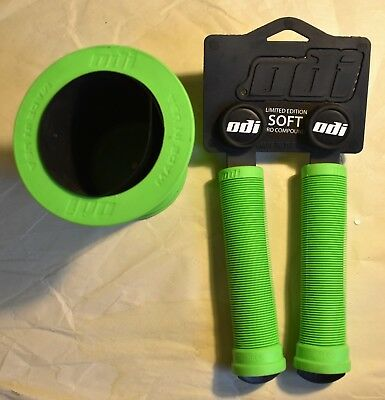 ODI LONGNECK GRIPS & Coozy Koozie Cozy in Green for BMX Park Street Bike