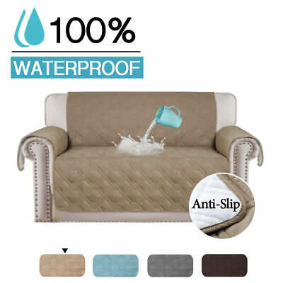 100% Waterproof Sofa Slipcover Non slip Sofa Couch Cover Pet Friendly Quilted