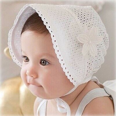 Spring Hollow Princess Bucket Hats For Girls Kid Spring Summer Floral Lace-Up
