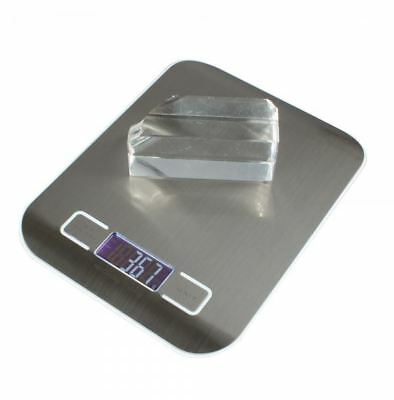 Digital 5kg X 1g 1 Weight Kitchen Food Diet Scale White 7 H318 Lcd 7in Wide