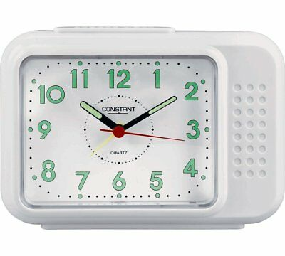 Constant Bell Analogue Alarm Clock with Light and Snooze