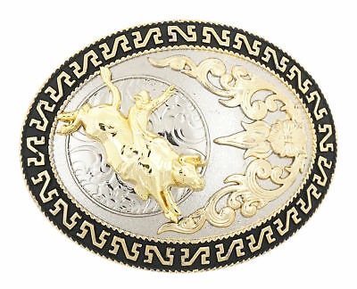 Bull Rider Riding Rodeo Cowboy Western Style Metal Belt Buckle
