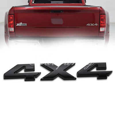 Matt Black 4x4 Nameplate Trunk Emblem Badge Sticker for Dodge Ram 1500 2500 3500