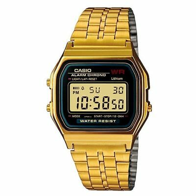 NEW Casio Vintage Retro Digital Stainless Steel Watch A159WA-N1DF