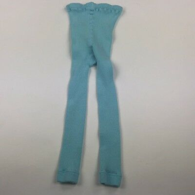 Hannah Andersson Girls Footless Cotton Tights Size 100 4/5 turquoise Blue