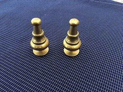 Pair of  vintage brass  finials