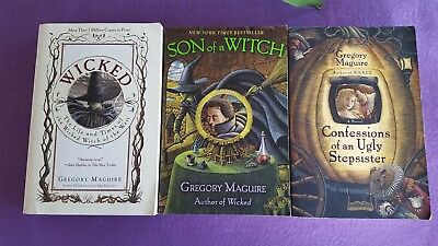 Wicked Books: Lot of 3 by Gregory Macguire Wicked, Son of a Witch, Confessions