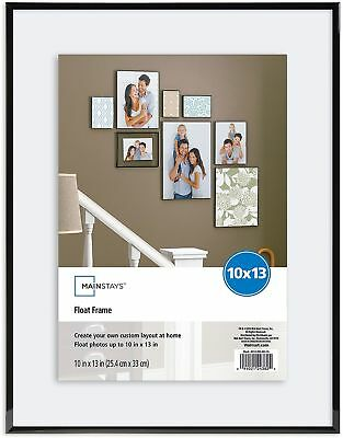MAINSTAYS 10X13 BLACK Float Frame Picture Wall Gallery Family Photos ...