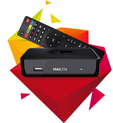 MAG254 w1/w2 Multimedia Player With Built-In WiFi with 1 Year iPTV Subscription