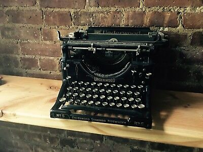Antique Underwood No 5 Typewriter 1920's