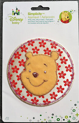 @disney Winnie The Pooh With Red Flowers Iron-On/sew Applique/ Cloth Patch@nip