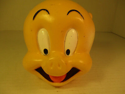 1997 Looney Tunes Plastic Porky Pig Head Bank