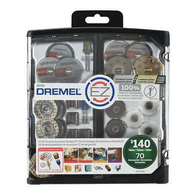 Dremel 70-Piece All-Purpose Accessory Storage Kit EZ725 Free Express Post