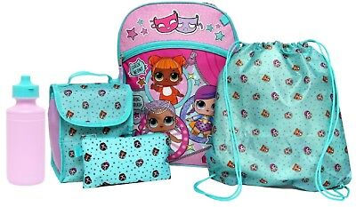 LOL Surprise Backpack 5pc LOL Backpack L.O.L Surprise with Lunch Tote NEW