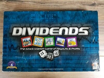 Dividends The Stock Market Game of Payouts & Profits 2005 Fun Factory Games NEW!