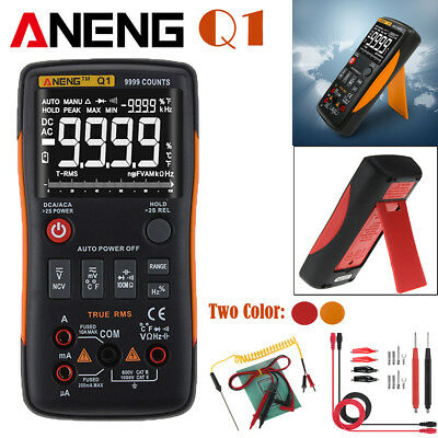 ANENG Q1 True-RMS Digital Multimeter 9999 Counts w/ Analog Bar AC/DC Ammeter