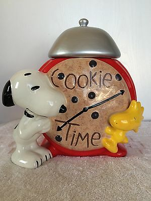 Vintage Snoopy and Woodstock Cookie Time Ceramic Cookie Jar