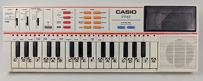 Vintage Casio PT-82 Keyboard Casiotone Electronic Synthesizer with ROM Pack