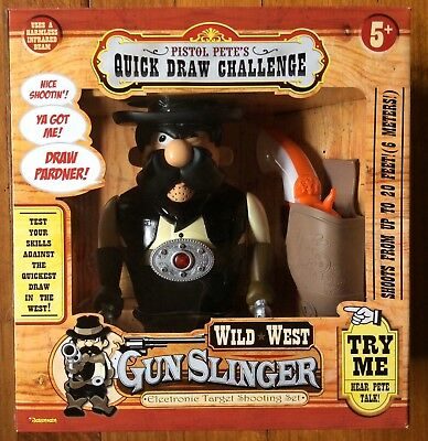 Pistol Pete's Quick Draw Challenge Wild West Gunslinger from 2004 - New in Box