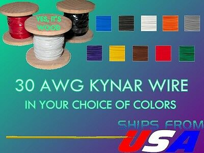 50 Ft. 30 Awg Kynar Wire Wrap Wrapping Wire Xbox Ps4 Mod Jtag U-Pick Colors!