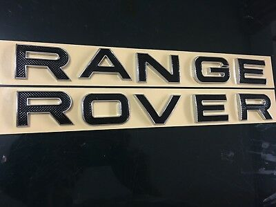 Chrome Black RANGE ROVER Trunk Rear Letters Emblem Badge Sticker For LAND ROVER