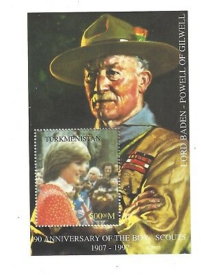 stamp sheet - PRINCESS DIANA  MINT BADEN POWELL SCOUTS