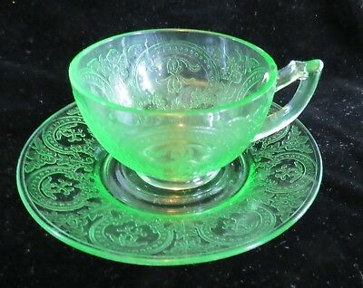 Indiana Horseshoe #610 Green Cup & Saucer Set(s)