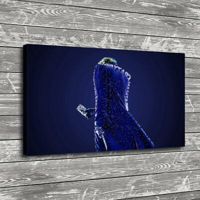 Joker Blue Poker Knife Home Decor Room HD Canvas Print Picture Wall Art Painting