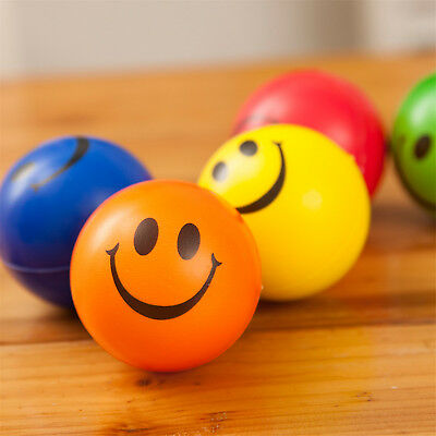 2X Anti Stress Smiley Face Reliever Ball Stressball ADHD Autism Mood Squeeze N19