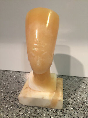 Egyptian Queen Nefertiti Sculpture Bust Ruler of the Nile Statue Mable
