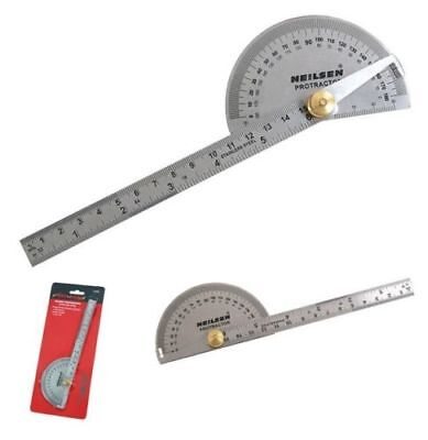 Neilsen Multi-Use Ruler And Gauge Protractor Square CT4215