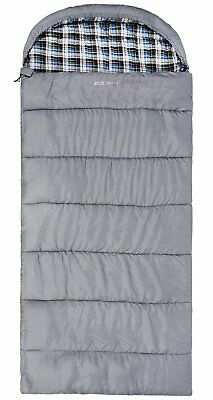 REDCAMP Cotton Flannel Sleeping Bag for Adults, 23/32F Comfortable, Envelope