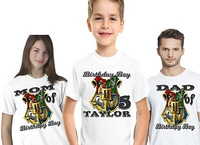 Harry Potter Birthday T Shirt Shirts Family Custom Name Number Supplies Decor