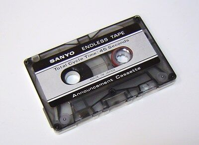 SANYO 45 Sec Endless Loop Tape message announcement answering machine cassette