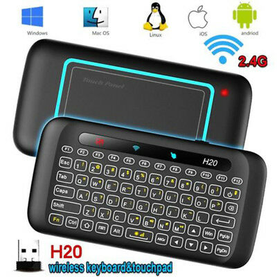 H20 Mini Wireless Keyboard Full Screen Large Touchpad Air Mouse Combo 7 Color