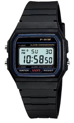 New Sports Alarm Stopwatch Wrist F91W Watch with Resin LCD Digital Retro