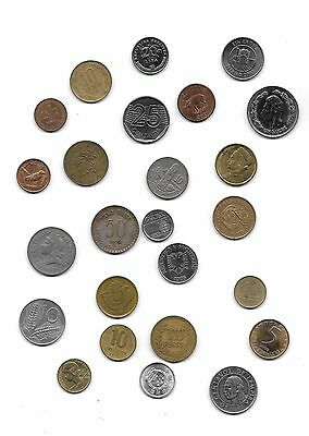 25 WORLD COINS, FROM 25 DIFFERENT COUNTRIES - Code - E