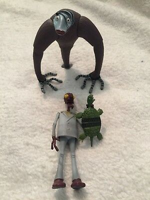 Nightmare Before Christmas MELTING GUY & SPIDER HAIR GUY 2007neca Action Figures